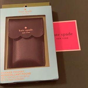 Brand New Kate Spade Scallop Sticker Pocket! 😍